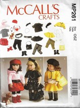 """McCall's Crafts Pattern #MP261-Clothes & Accesories-Dog For 18"""" Doll - $5.86"""
