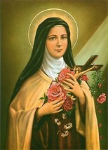Catholic Print Picture ST. THERESE Teresa Little Flower - ready to be framed - $14.01