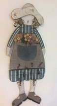 Decorative Wall Doll, Solid  Wood And Wire with Rust Patina. - $15.25