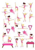 26 Gymnastics dance Shapes theme Cake Toppers On Icing - simply cut out ... - $13.41 CAD
