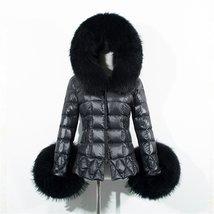 New winter women jacket fox faux fur collar outwear (XXL) - $40.59