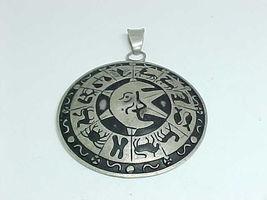 HUGE Celestial Zodiac Vintage TAXCO Designer FRA PENDANT in STERLING - 3... - $225.00