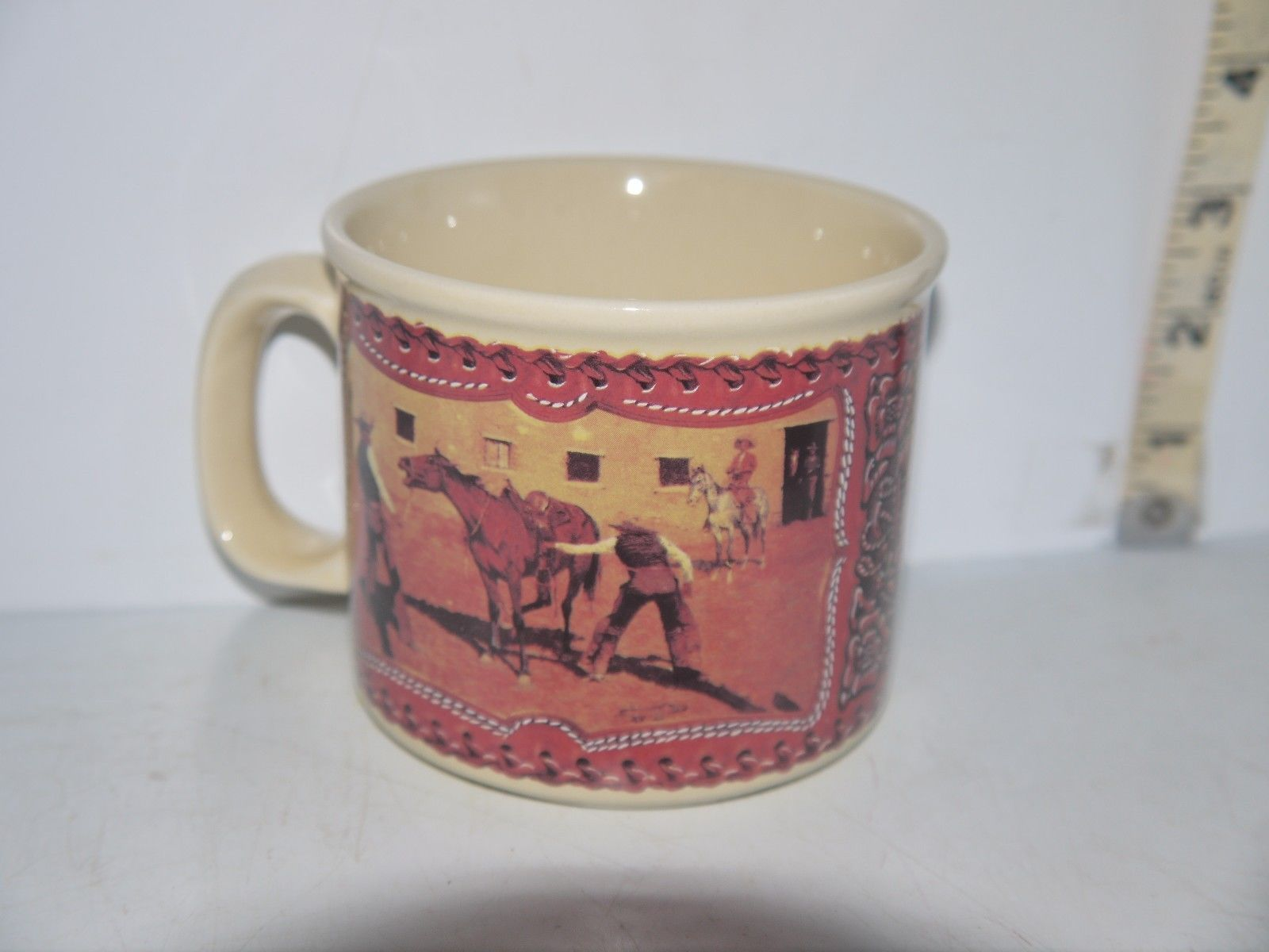 "Artist Frederic Remington ""His First Lesson"" Porcelain coffee mug by Enesco 1993 - $8.18"