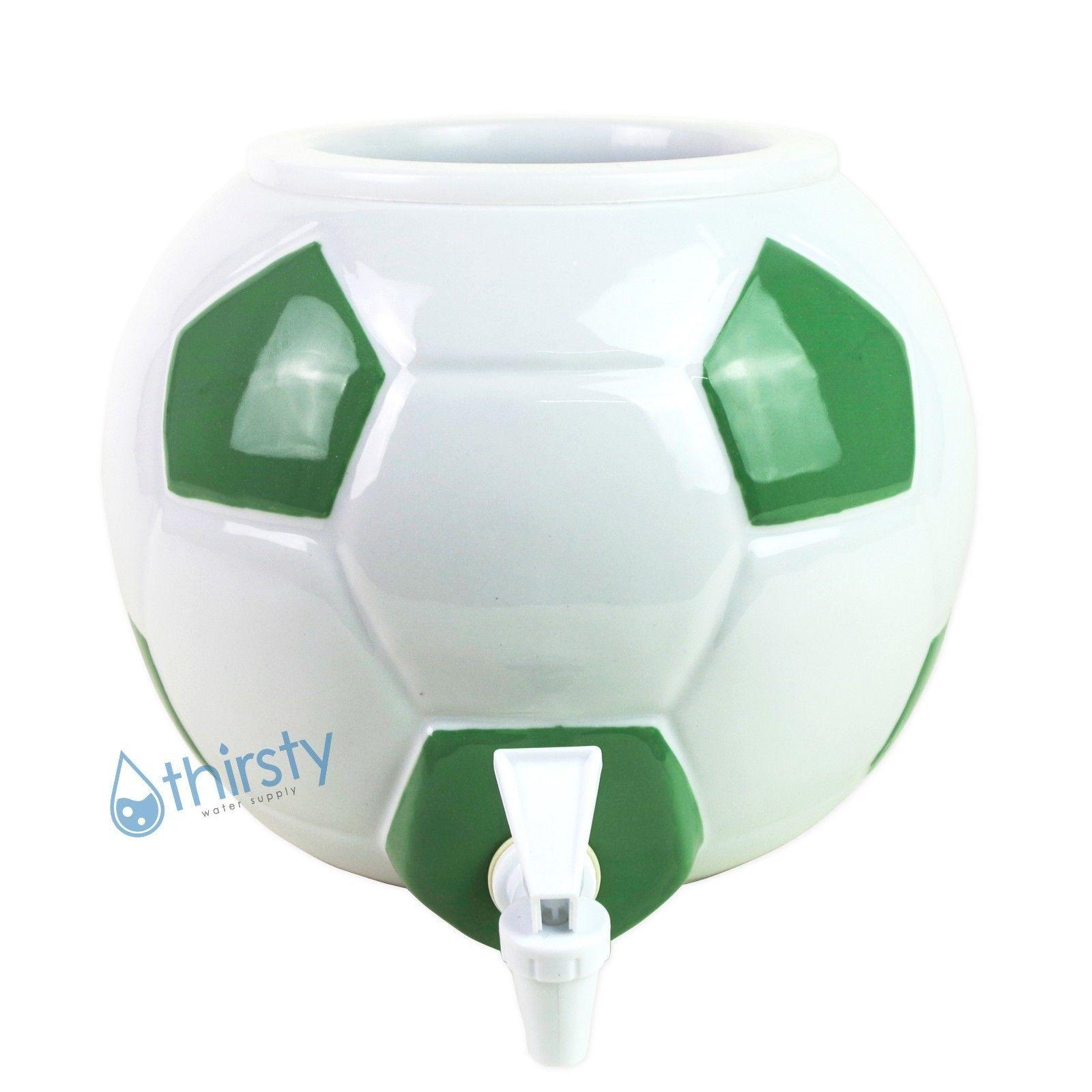 Soccer Ball Water Crock Dispenser Ceramic and 50 similar items