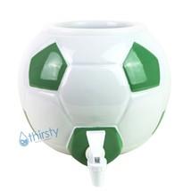 Soccer Ball Water Crock Dispenser Ceramic Porcelain Spigot Faucet Valve Futbol - $46.73