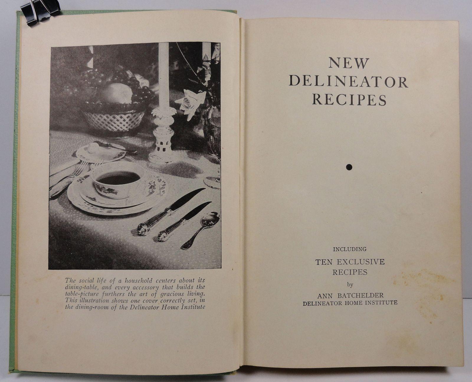 New Delineator Recipes 1930  Ann Batchelder Butterick