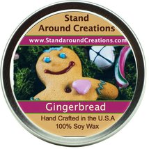 Premium 100% All Natural Soy Wax Aromatherapy Candle - 8oz Tin - Gingerb... - $12.99
