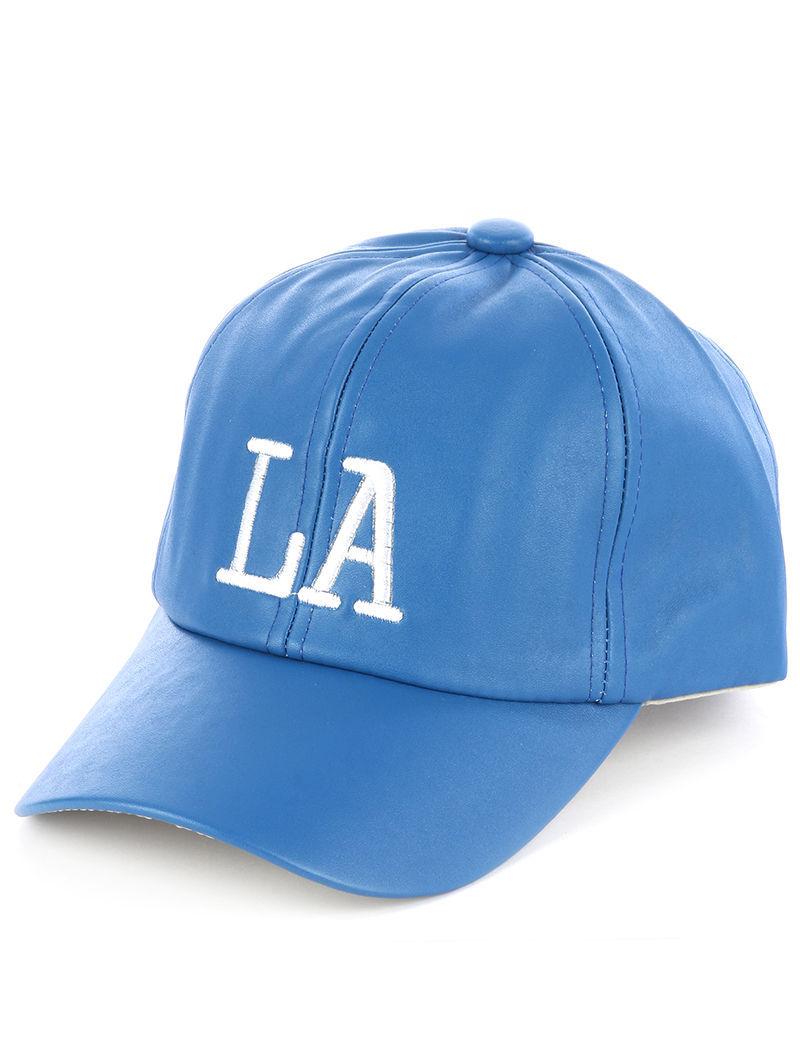 Quality Embroidered LA LosAngeles Adjustable Velcro Urban Baseball Hat Cap Blue