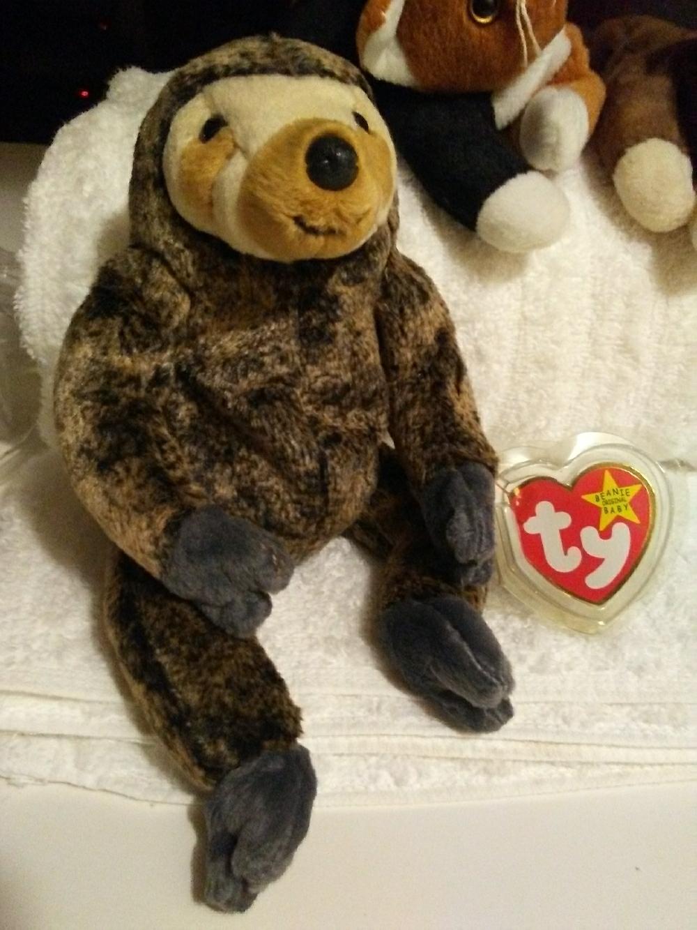 f8bd3e87864 0810180550a. 0810180550a. Ty original RETIRED Slowpoke the sloth beanie baby.  Ty original RETIRED Slowpoke ...