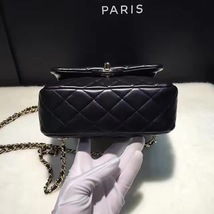 AUTHENTIC 2015 CHANEL QUILTED BLACK LAMBSKIN BACKPACK BAG GHW image 6