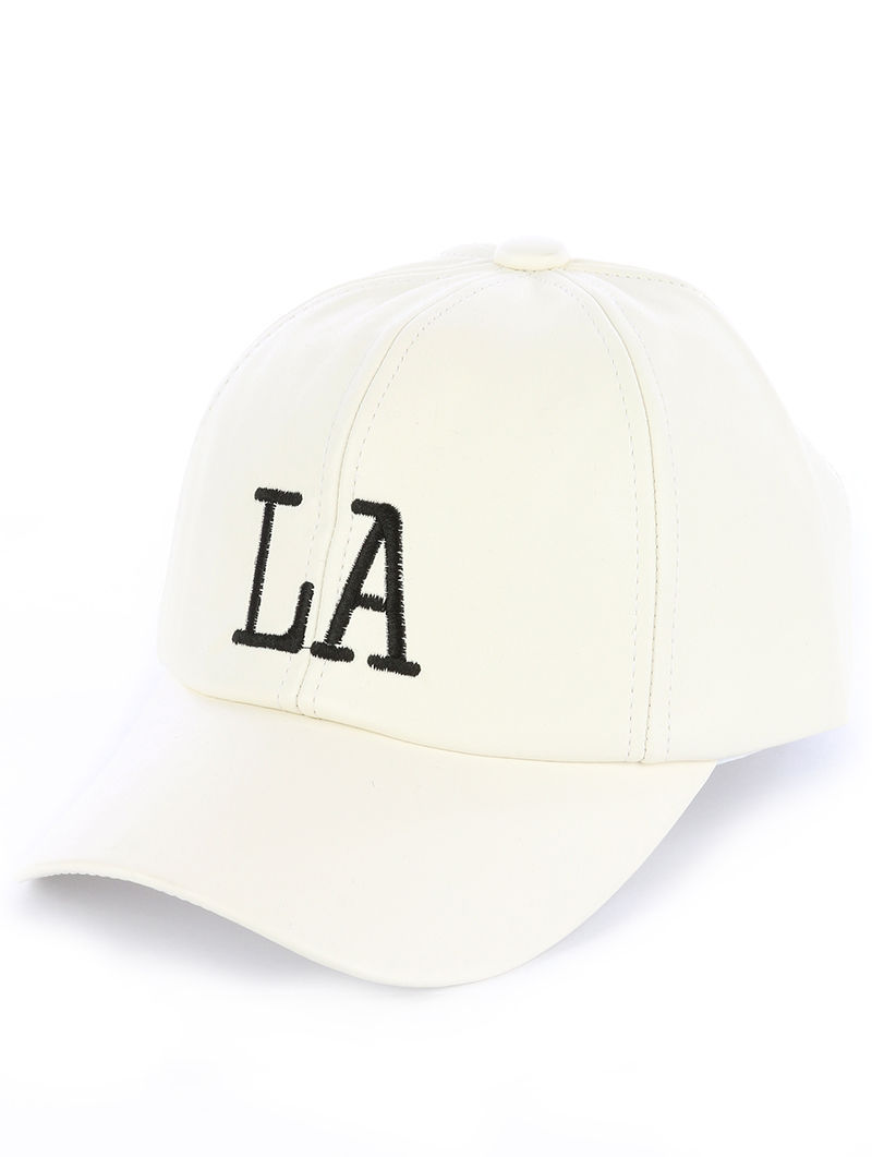 Quality Embroidered LA LosAngeles Adjustable Velcro Urban Baseball Hat Cap White