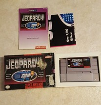 Jeopardy (Super Nintendo, 1992) CIB Free Shipping - $8.91