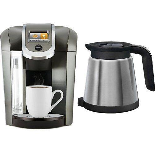 Keurig K575 Coffee Maker Thermal Silver Carafe Bundle 2.0 Platinum (Updated) - Coffee Makers ...