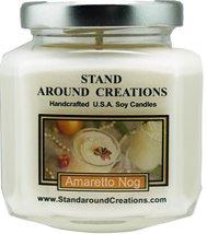 Premium 100% Natural Soy Candle - 6 - oz. Hex Jar- Amaretto Nog: A holid... - $12.99