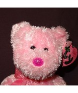 Dazzler Bear Pink Ty Beanie Baby Plush Stuffed Animal Toy 2004 with Tag - $8.21
