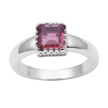 Shine Jewel Genuine Pink Tourmaline Gemstone 92.5 Sterling Silver Jewelr... - $17.81
