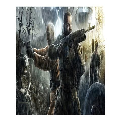 Bath0182 shower curtain stalker call of pripyat shooter survival adventure horror