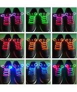 3-Mode LED Light UP Fiber Glow Flash ShoeLace Shoestring 19 Color to Cho... - $2.99