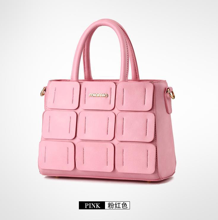 Fashion 10 Color Leather Shoulder Bags Women Tote Bags Medium Women Purse F098-1