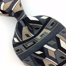 ZYLOS GEORGE MACHADO USA TIE GRAY Black GEOMETRIC Art Silk Necktie Ties ... - $15.83