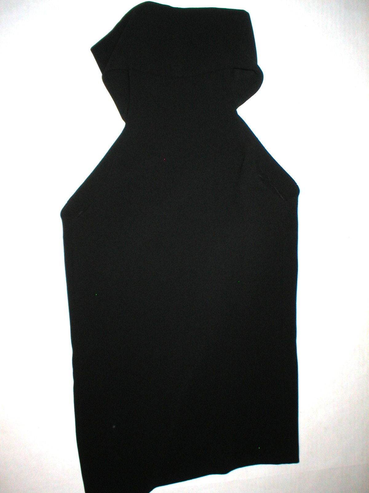 New NWT Womens 4 6 Designer France 36 Anthony Vaccarello Black Top Cut Outs