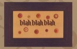 Blah Blah Blah cross stitch chart Amy Bruecken Designs - $11.70