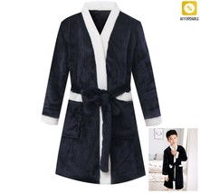 Kids Bathrobe Winter Fleece Robes For Boys Solid Girls Pajamas Warm Chil... - $23.92+