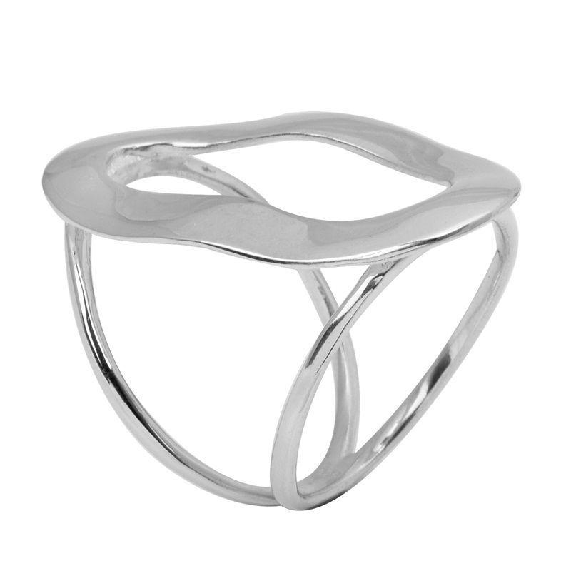 Women Fashion Plain Hoop Solid 925 Sterling Silver Jewelry Ring  Sz 7 SHRI0792