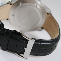 JAGUAR WATCH, SWISS MADE, SAPPHIRE CRYSTAL, 44 MM WORKED CASE BLACK LEATHER BAND image 3