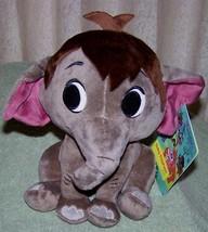 "Disney Furrytale Friends Jungle Book Baby Elephant 8""H Plush Nwt - $16.50"
