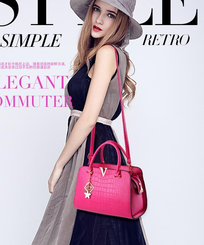 Mixed Color Women Leather Shoulder Bags Free Shipping Handbags Tote Bags C103-1
