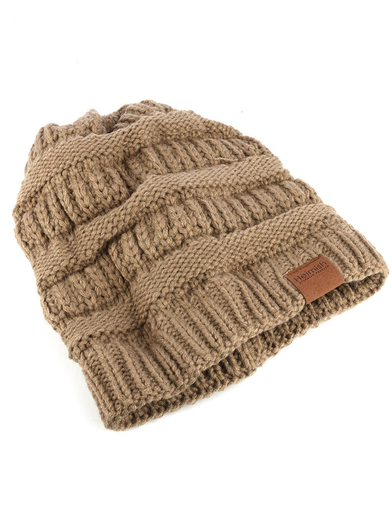 Trendy! Knit Beanie Cap Winter Hat Swag Khaki