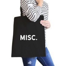 Misc. Black Canvas Bag Simple Book Bags For College Students - $21.22 CAD
