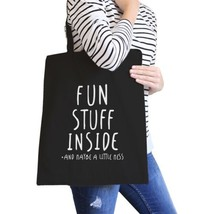 Fun Stuff Inside Black Canvas Bag Gifts For Best Friend Tote Bags - $21.22 CAD