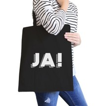 Ja! Black Canvas Bag Cute Gift Ideas For BFF Tote Bags for Girls - $15.99