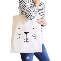 Seal Cute Face Natural Canvas Bags Cute Design Printed Diaper Bags - $13.99