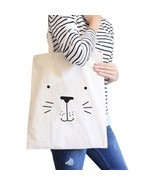 Seal Cute Face Natural Canvas Bags Cute Design Printed Diaper Bags - $281,61 MXN