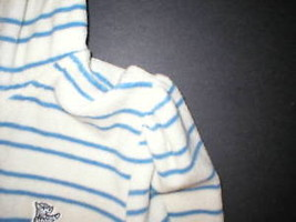New $148 Womens Medium Juicy Couture Terry Hoodie White Blue Dog Jacket Stripes image 4