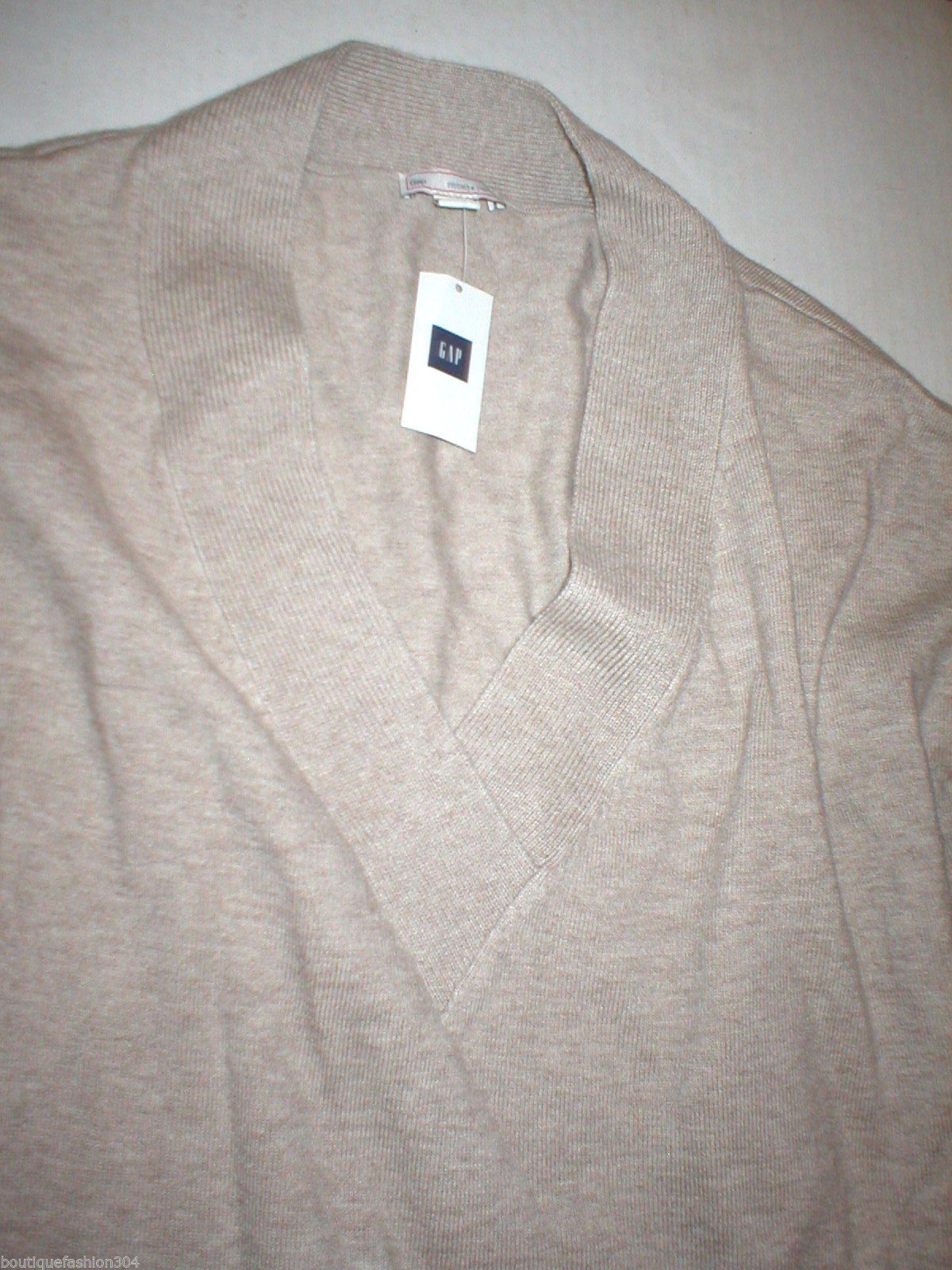 NWT New Womens Gap Sweater Extra Soft Merino Extra Fine Wool S Khaki Beige Tan