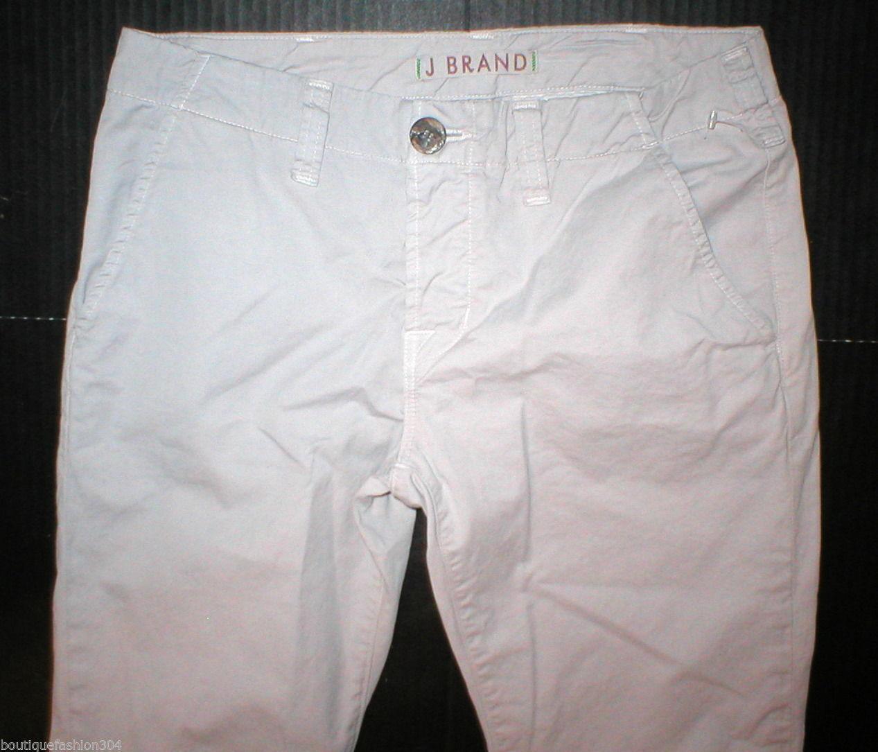 New J Brand Jeans Pants Khaki 25 28 X 27 Crop Womens Skinny Capri Khakis Twill image 2