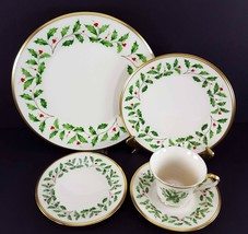 LENOX China Holiday Dimension 5 Piece Place Setting Dinnerware USA image 2