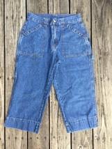 Bill Blass Women's 8 Capri Jeans Pants Cargo Carpenter C - $15.83