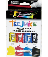 Jacquard Tee Juice Fabric Markers - 4 colors (#1) - $12.95