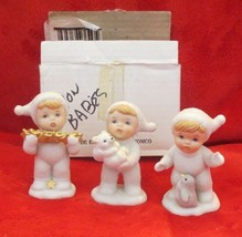 """Set of 3 Homco Snowbabies Figurines 3-1/2"""" - $17.80"""