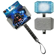 New Avengers LED Glowing And Sounding Thor Hammer Action Figures Cosplay Kids - $16.02