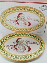 """Fitz & Floyd Vintage Santa Sentiment 10"""" Tray Merry Christmas - $19.34"""