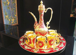 Islamic Turkish Moroccan Coffee Tea Set  Arabic Culture Pot Cup طقم الشاي - $78.21