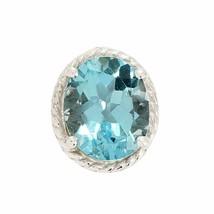 925 Sterling Classic Blue Topaz 4.0 Ct Gemstone Silver Pendant SHPN0179 - $21.81