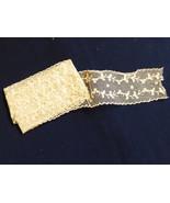 """VTG antique hand made cotton net beige ecru Lace Trim 2 1/4"""" wide 1.77 yard - $34.65"""