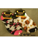 2 pair Halloween Ladies Socks Ghost Jack-o-lantern pumpkin candy corn ca... - $5.99